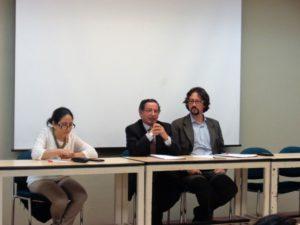 De izquierda a derecha: Dra. Sonia Brazales, Dr. Raúl Terán, Dr. Xavier Maldonado.